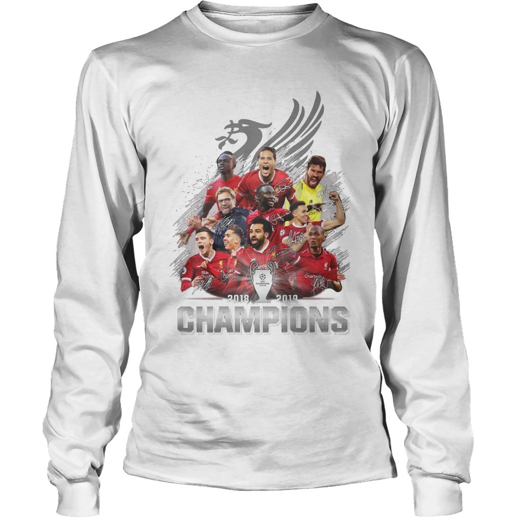 Liverpool Fc Champions Cup 2018 2019 Signatures Long Sleeve Tee