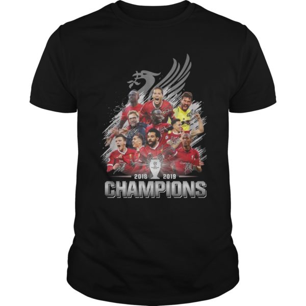 Liverpool Fc Champions Cup 2018 2019 Signatures Shirt