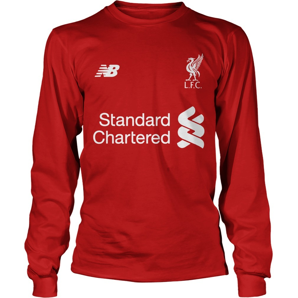 Liverpool Fc Standard Chartered Cup 1977 1978 1981 1984 2005 2019 Long Sleeve Tee