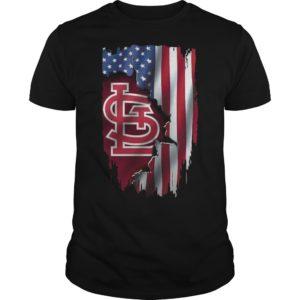 Mashup American Flag StLouis Cardinals MLB Shirt