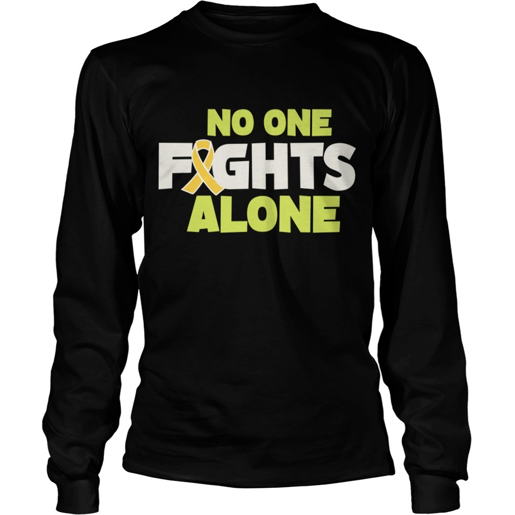 Rob Gronkowski Retirement No One Fights Alone Long Sleeve Tee