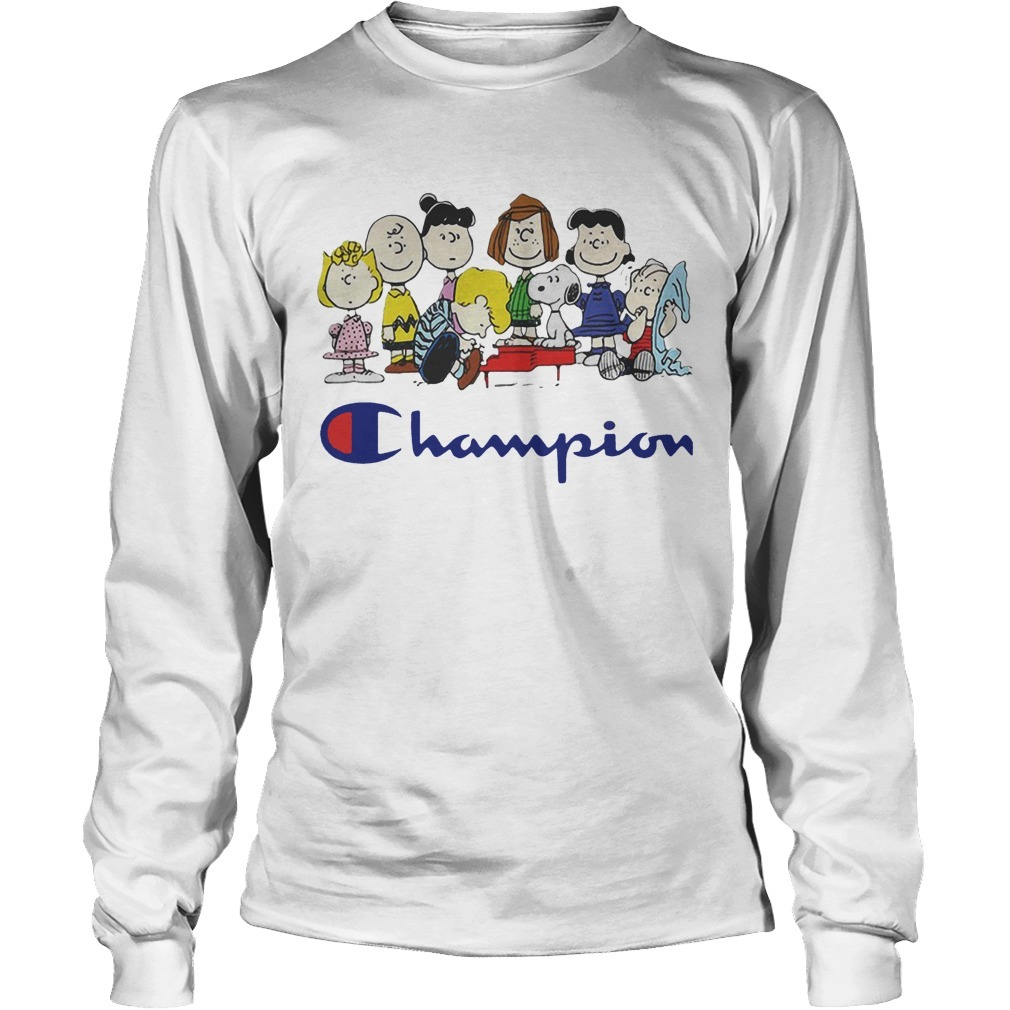 Snoopy And Friends Champion Peanuts Long Sleeve Tee