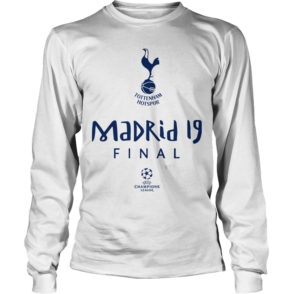 Tottenham Champions League Road To Madrid 19 Long Sleeve Tee