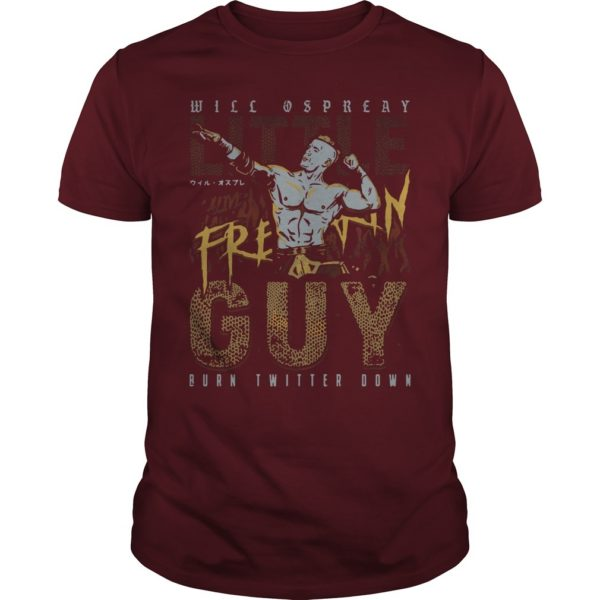 Will Ospreay Little Guy Burn Twitter Down Shirt