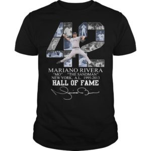 42 Mariano Rivera Mo The Sandman New York 1995 2013 Hall Of Fame Shirt