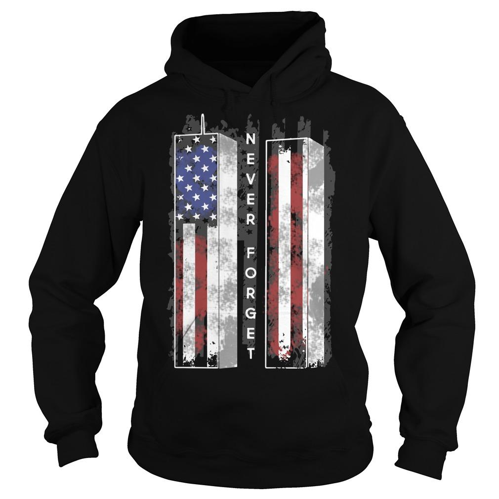 American Flag Towel Veteran Never Forget Hoodie