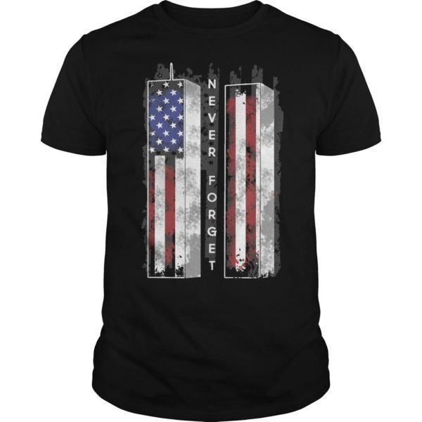 American Flag Towel Veteran Never Forget Shirt
