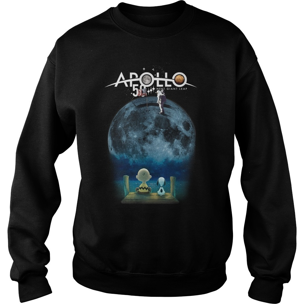 Charlie And Snoopy Watching Moon Landing Apollo 11 50th Anniversary Sweater
