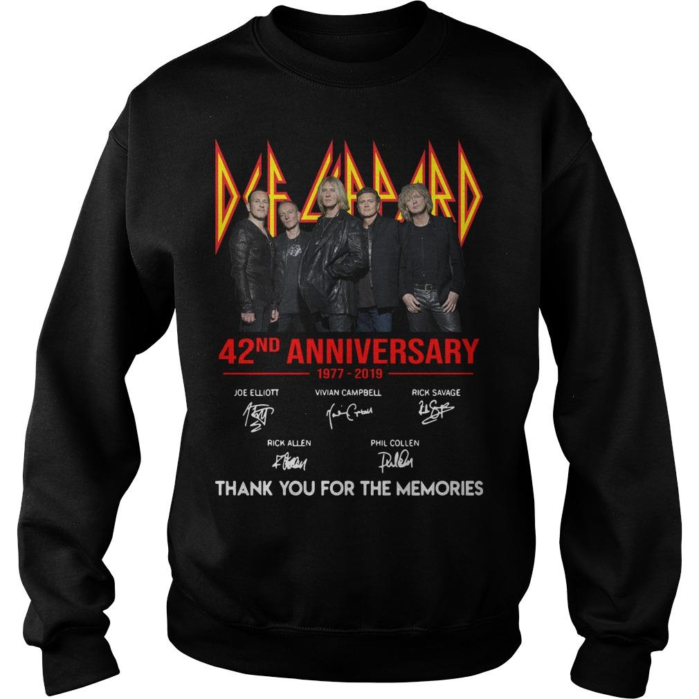 Def Leppard 42 Anniversarry 1977 2019 Thank You For The Memories Sweater