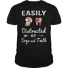 Floral Dog Dickhead Easily DistracteFloral Dog Dickhead Easily Distracted By Dogs And Teeth Shirtd By Dogs And Teeth Shirt