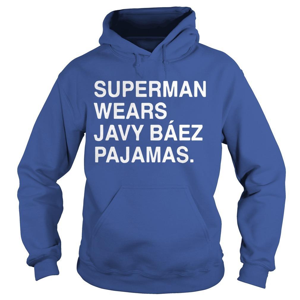 Obviouss Superman Wears Javy Báez Pajamas Hoodie