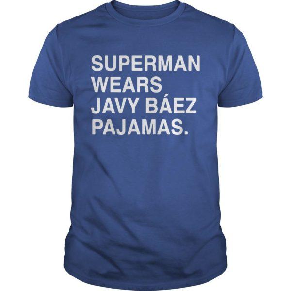 Obviouss Superman Wears Javy Báez Pajamas Shirt