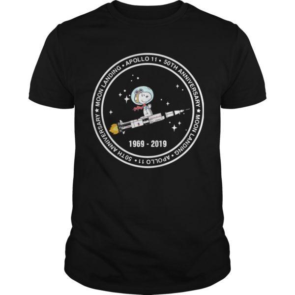 Snoopy Riding Rocket Moon Landing Apollo 11 1969 2019 Shirt
