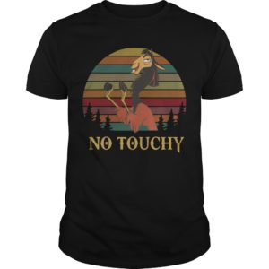Sunset Vintage Groove Kuzco Llama No Touchy Shirt