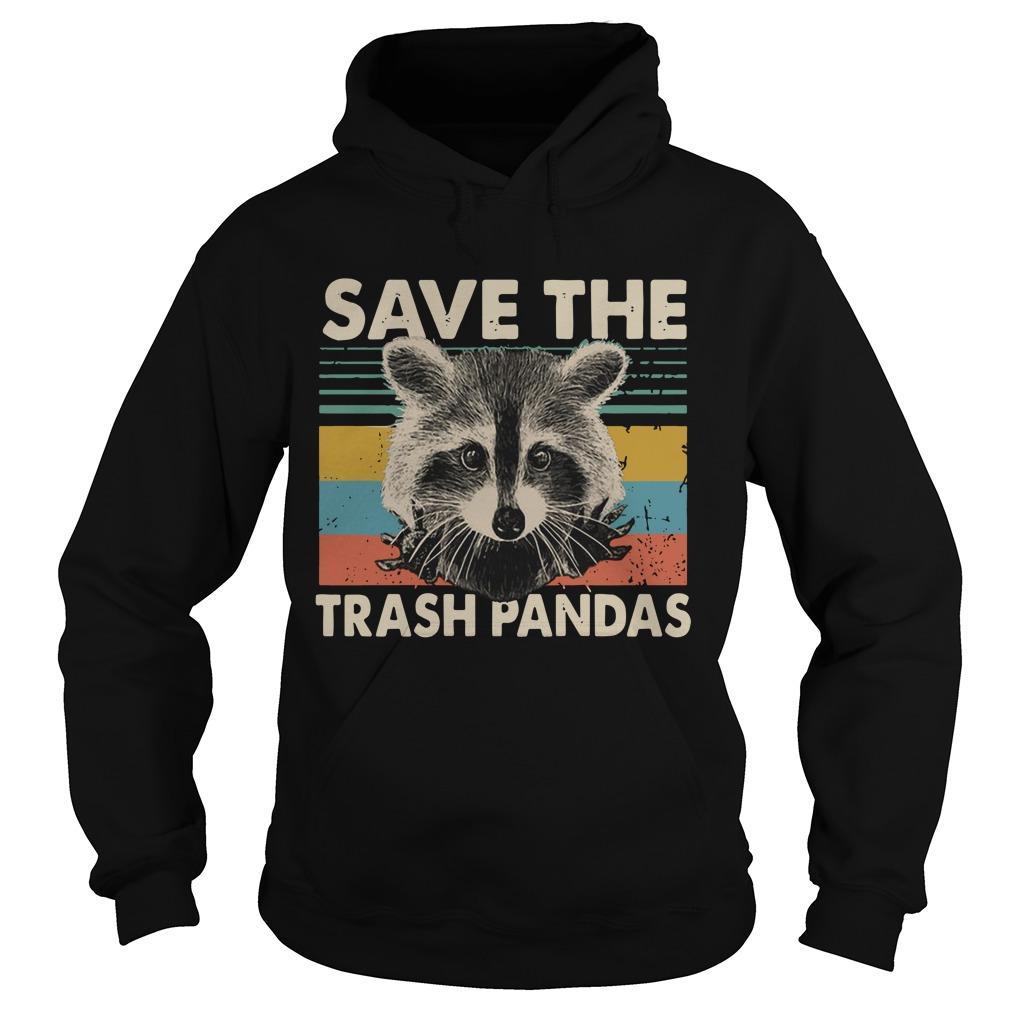 Vintage Raccoon Save The Trash Pandas Hoodie