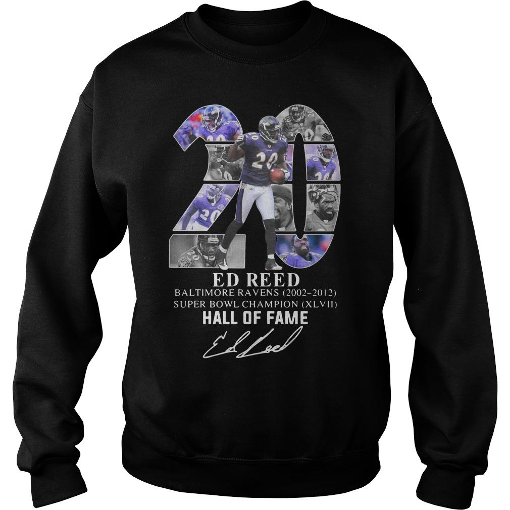 20 Ed Reed Hall Of Fame Sweater