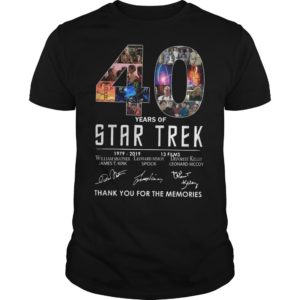 40 Years Of Star Trek 1979 2918 13 Films Thank You For The Memories Shirt