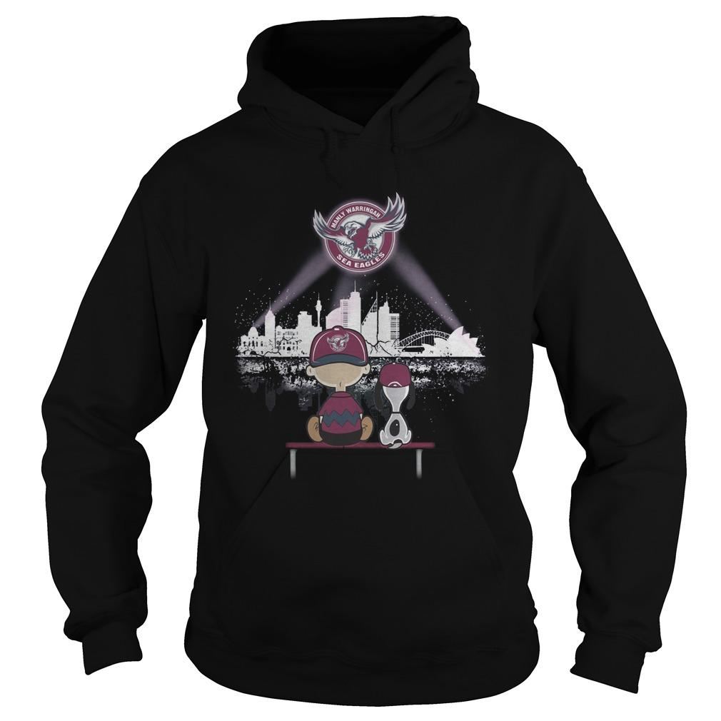 Charlie And Snoopy Manly Warringah Sea Eagles Hoodie
