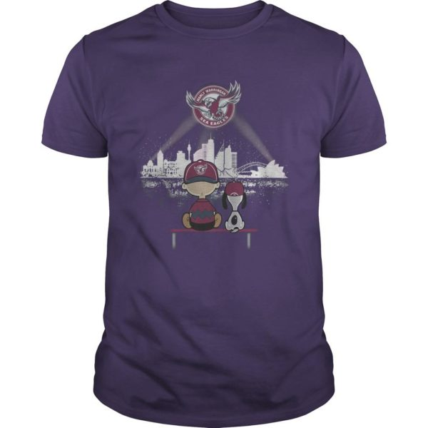 Charlie And Snoopy Manly Warringah Sea Eagles Shirt