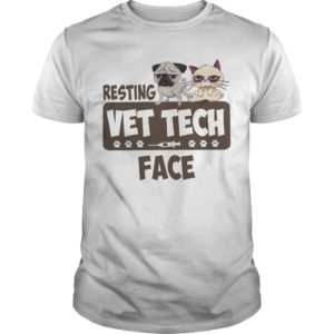 Grumpy Cat And Pitbull Resting Vet Tech Face Shirt