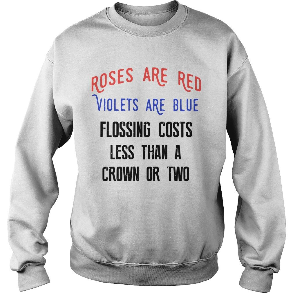 Roses Are Red Violets Are Blue Flossing Costs Less Than A Crown Or Two Sweater