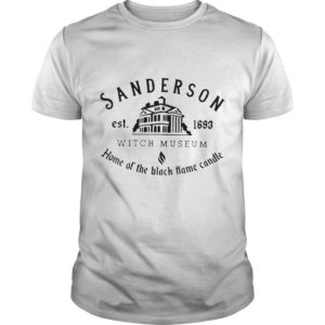Sanderson Est 1693 Witch Museum Home Of The Black Hame Candle Shirt