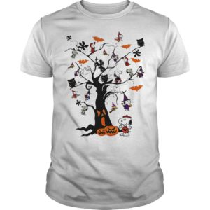 Snoopy Woodstock Owl Bats Ghost Boo On The Tree Shirt