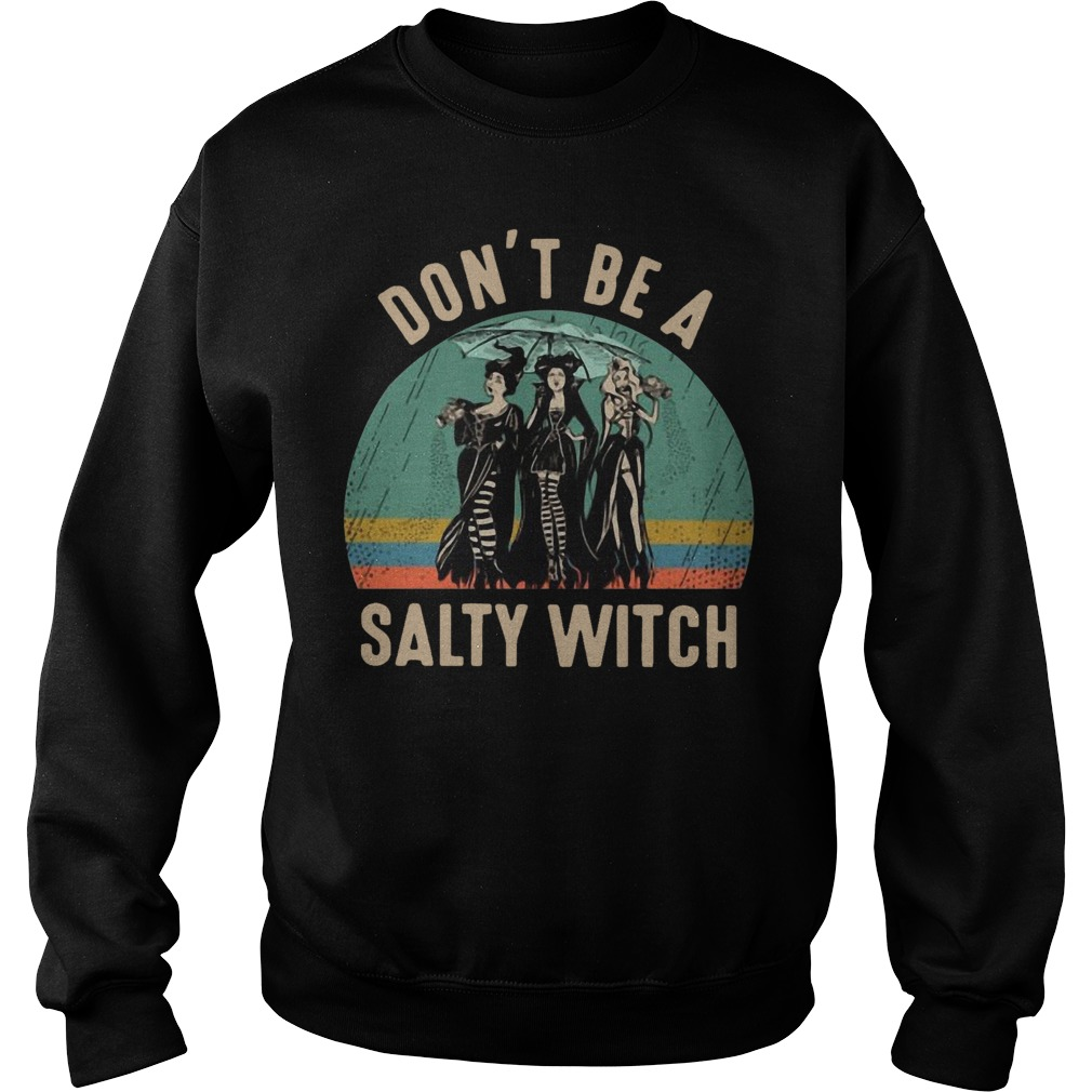 Vintage Hocus Pocus Don't Be A Salty Witch Sweater