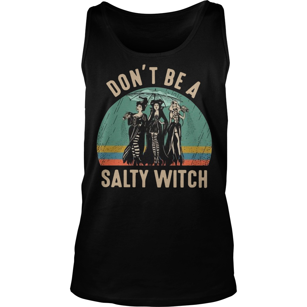 Vintage Hocus Pocus Don't Be A Salty Witch Tank Top