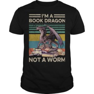 Vintage I'm A Book Dragon Not A Worm Shirt