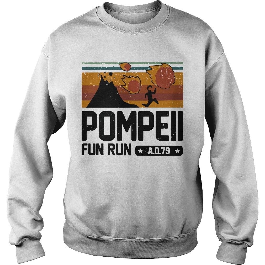 Vintage Pompeii Fun Run Ad 79 Sweater