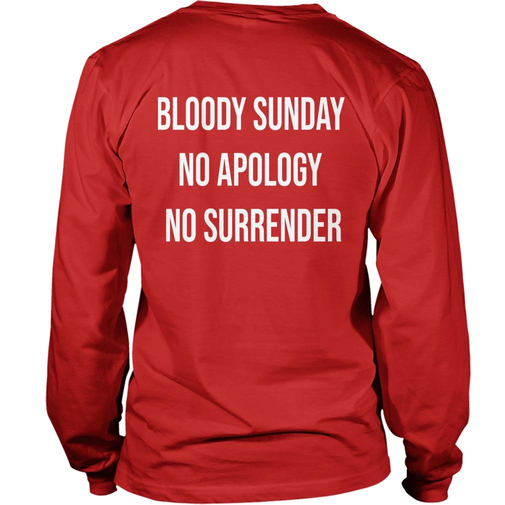 Bloody Sunday No Apology No Surrender Longsleeve