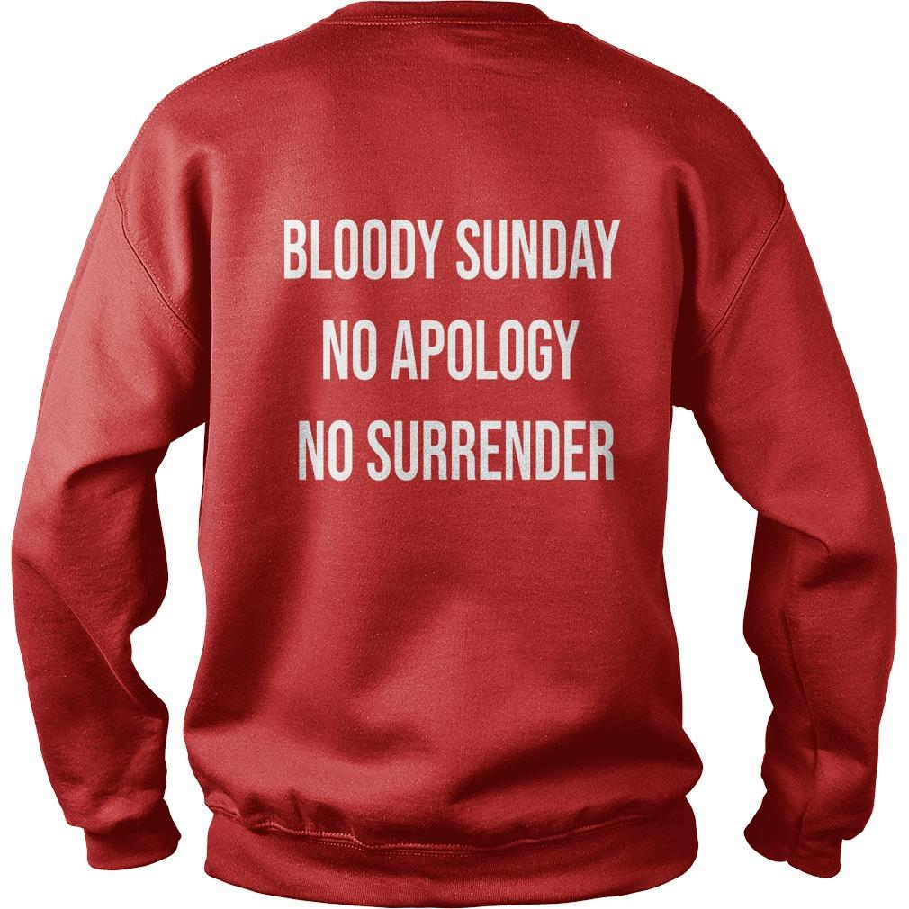 Bloody Sunday No Apology No Surrender Sweater