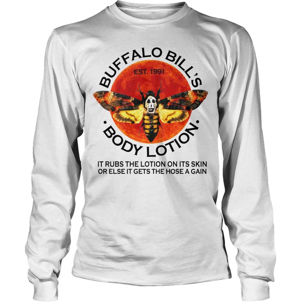 Buffalo Bills Body Lotion Est 1991 It Rubs The Lotion On Its Skin Longsleeve