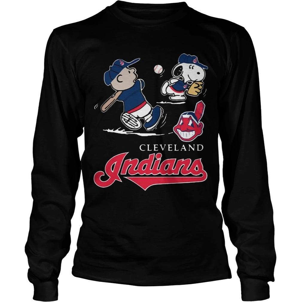 Charlie Brown Snoopy Cleveland Indians T Longsleeve
