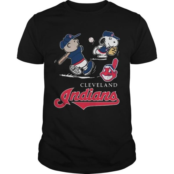Charlie Brown Snoopy Cleveland Indians T Shirt