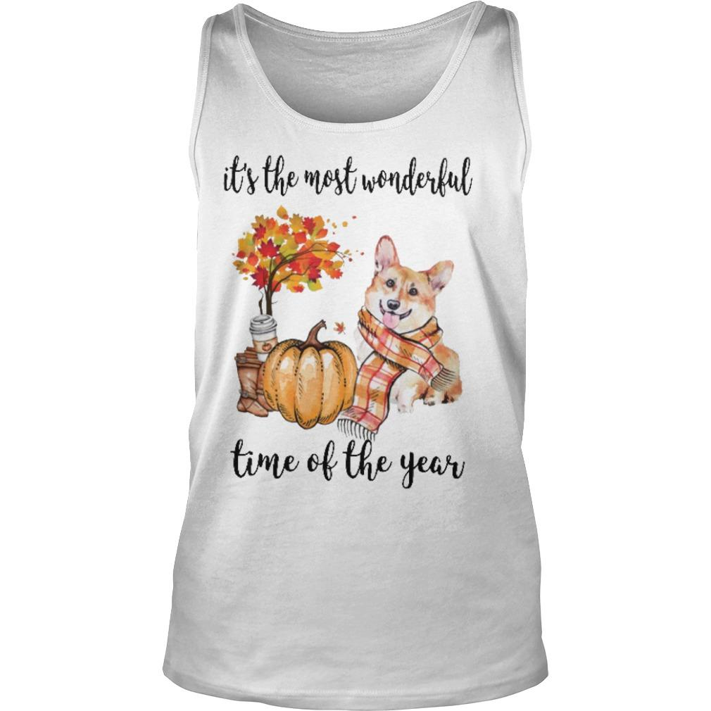 Corgi It's The Most Wonderful Time Of The Year Tank Top
