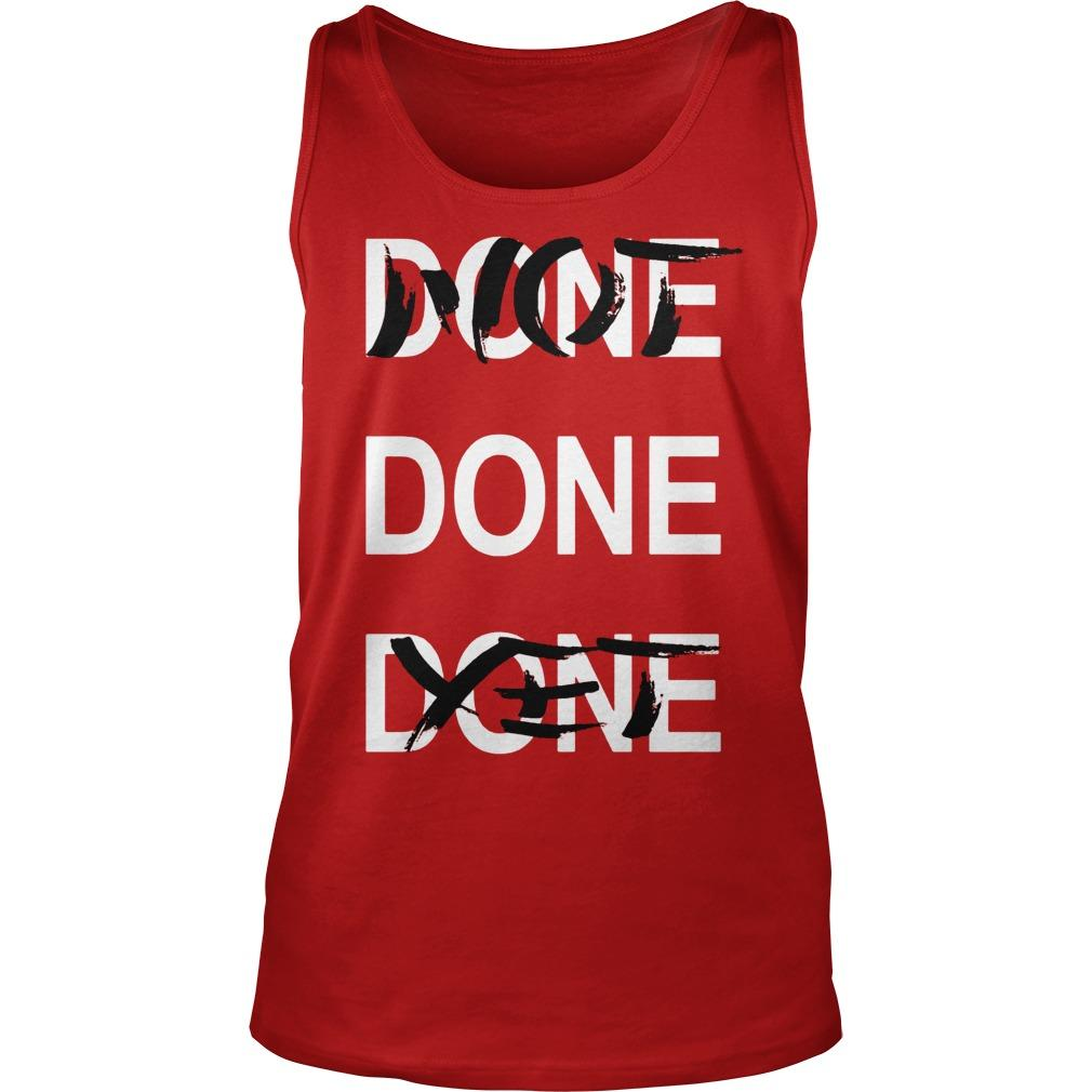 Derrick Rose Done Done Done Not Done Yet Tank Top