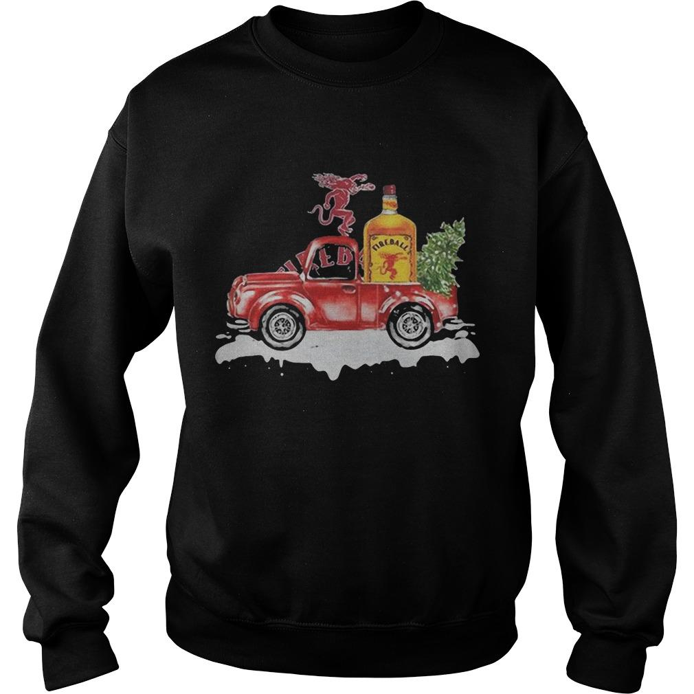 Fireball Cinnamon Whisky Christmas Truck Sweater