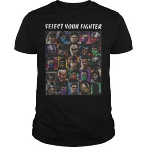 Game Mortal Kombat Select Your Fighter Shirt