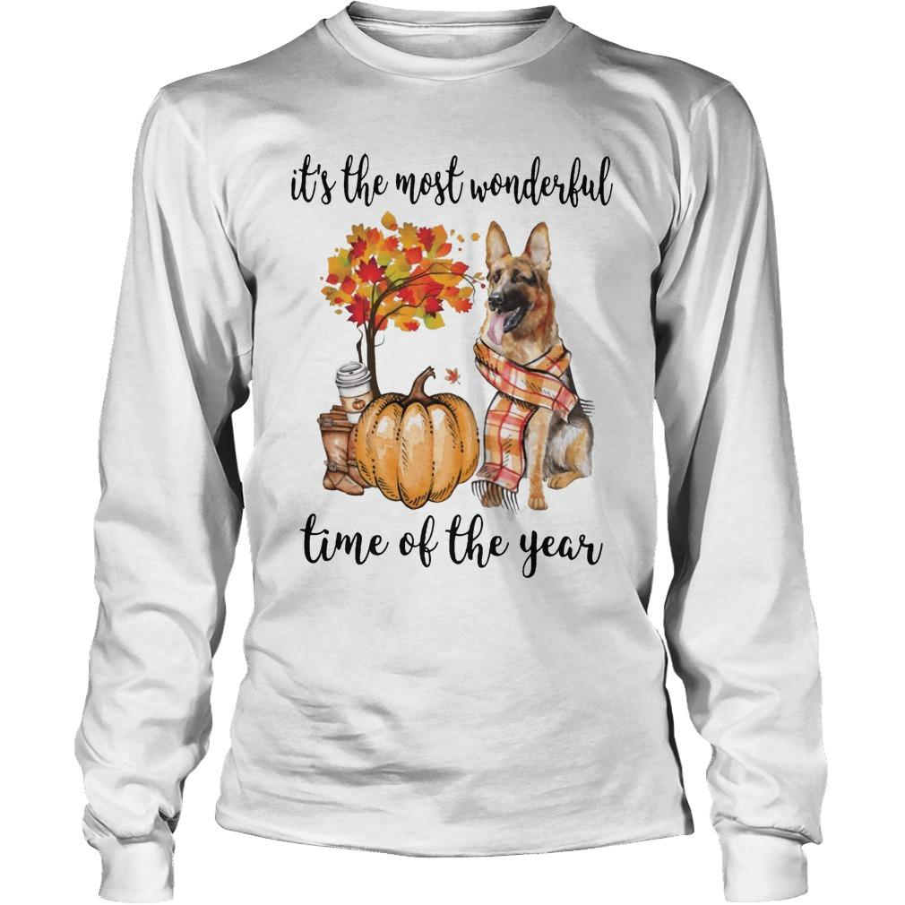 German Shepherd It's The Most Wonderful Time Of The Year Longsleeve
