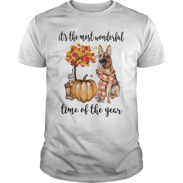 German Shepherd It's The Most Wonderful Time Of The Year Shirt