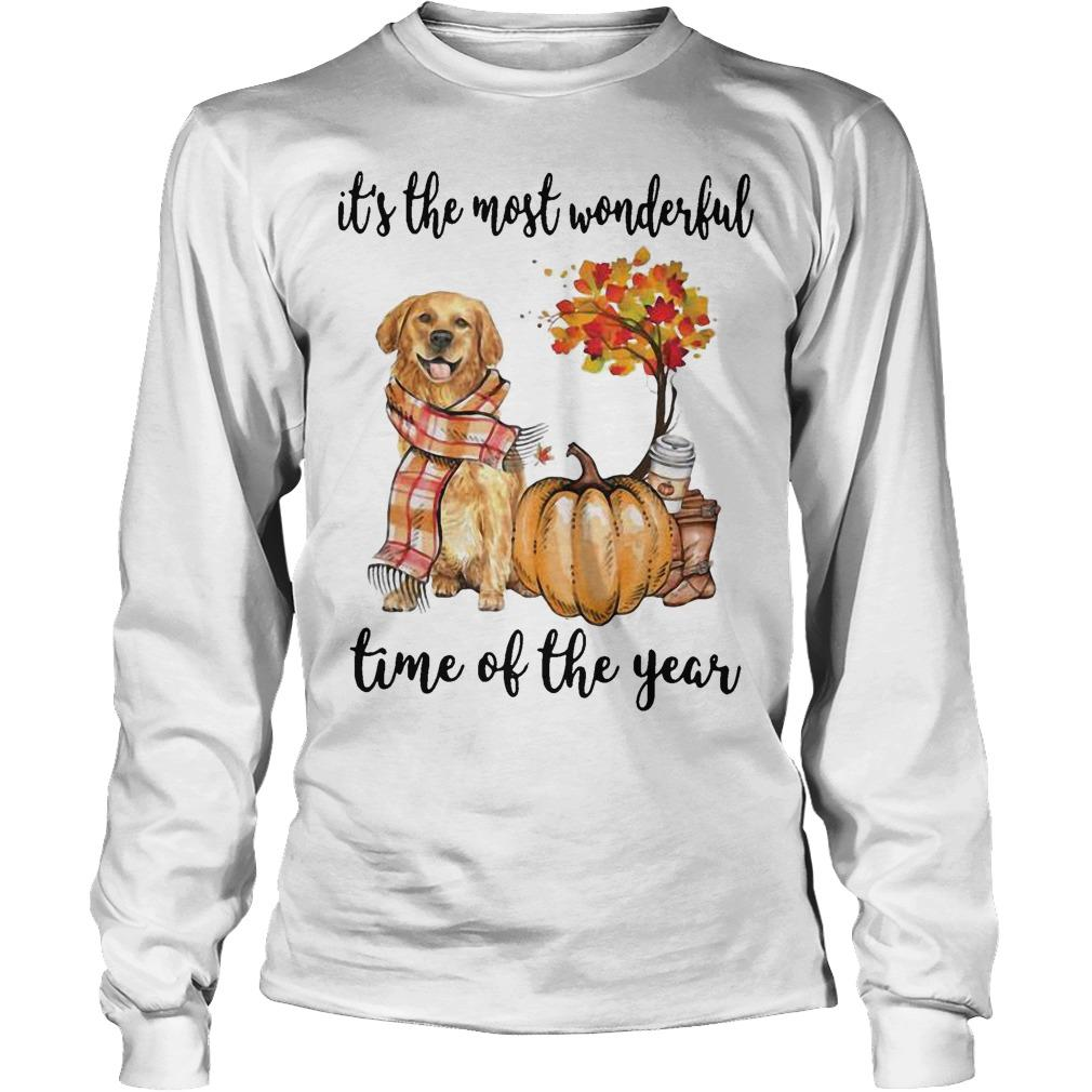 Golden Retriever It's The Most Wonderful Time Of The Year Longsleeve