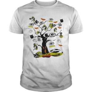 Halloween Green Bay Packers Tree Shirt
