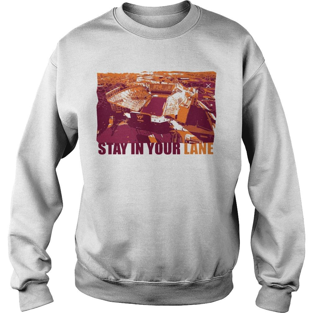 Hokies Stay In Your Lane Sweater