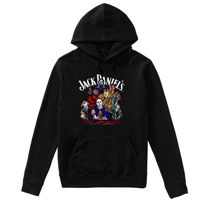 Horror Characters Jack Daniels Hoodie