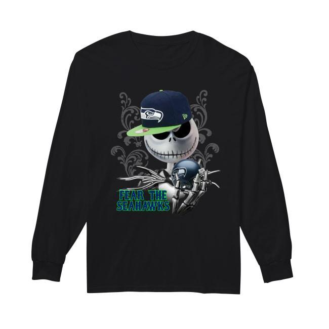 Jack Skellington Fear The Seattle Seahawks Longsleeve
