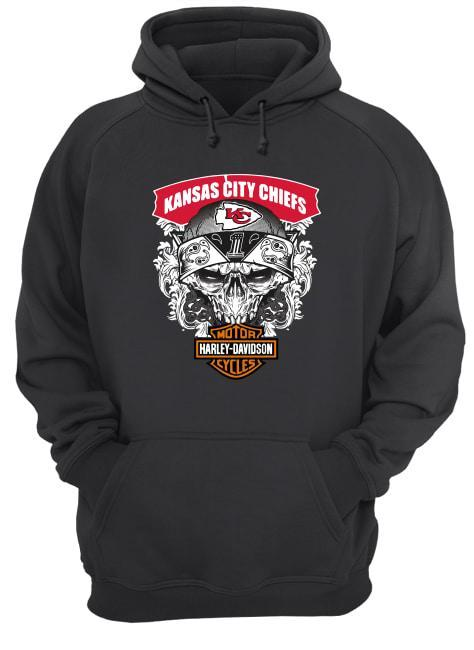 Kansas City Chiefs Motorcycles Harley Davidson Hoodie