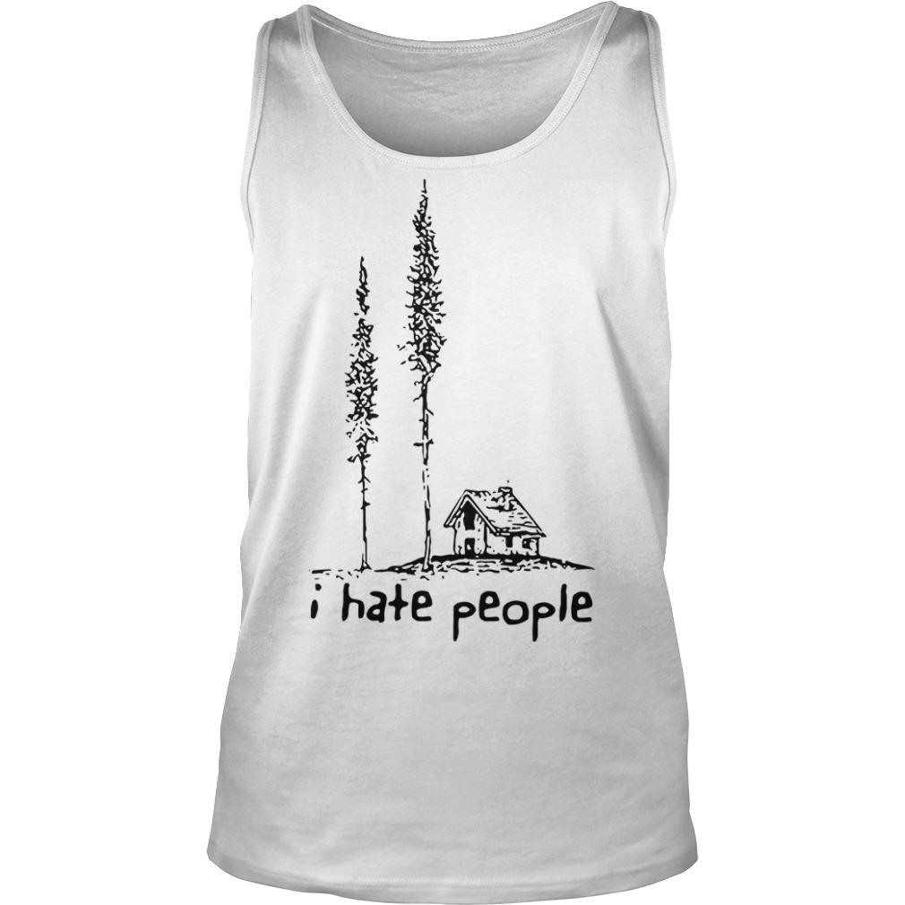 Lonely House I Hate People Tank Top