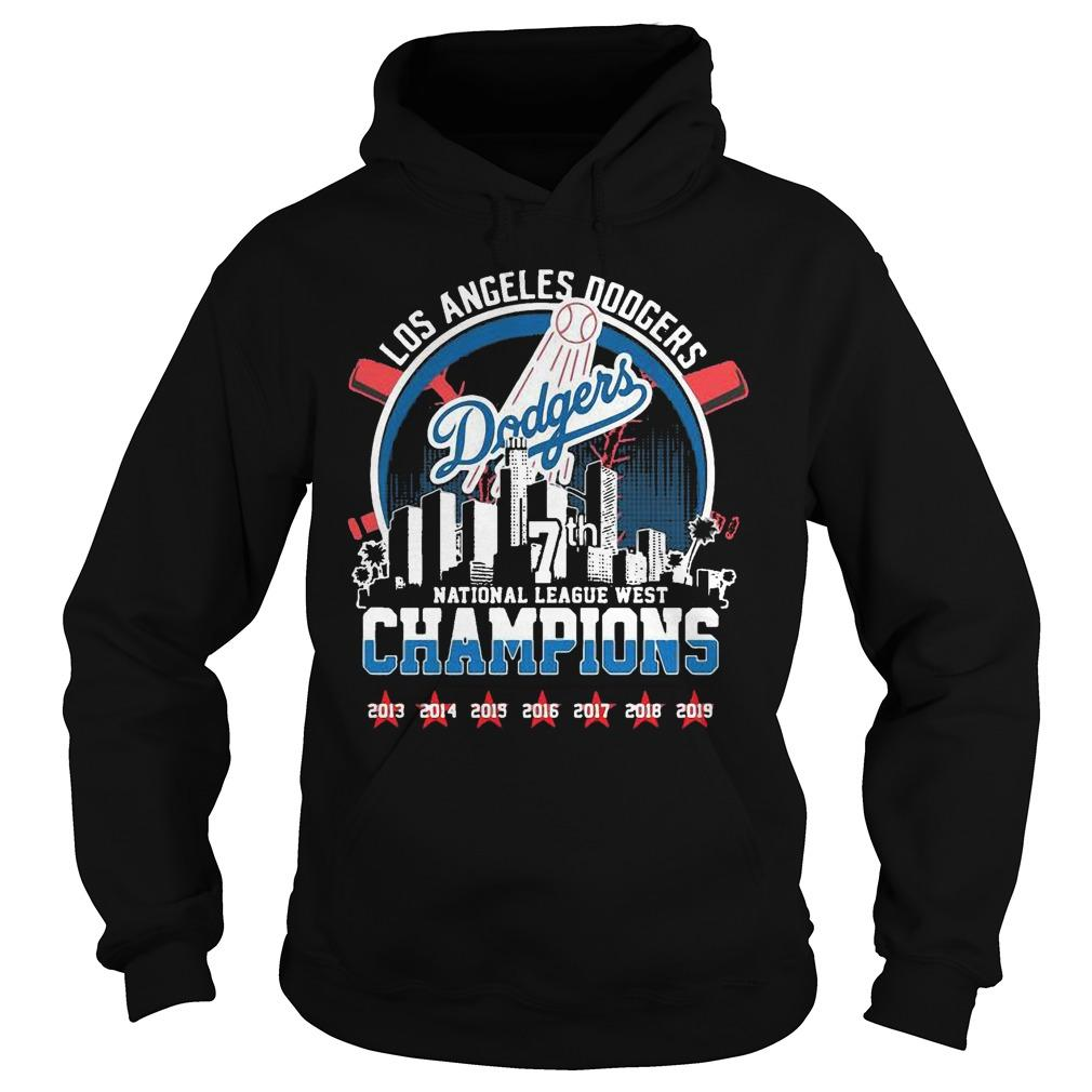 Los Angeles Dodgers 7th National League West Champions Hoodie